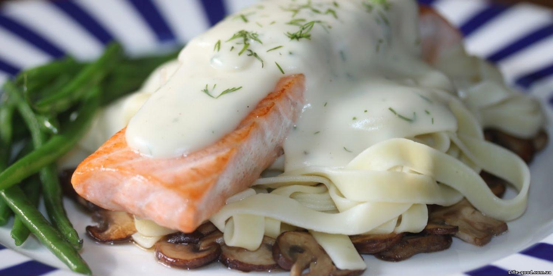 Семга под белым соусом рецепт