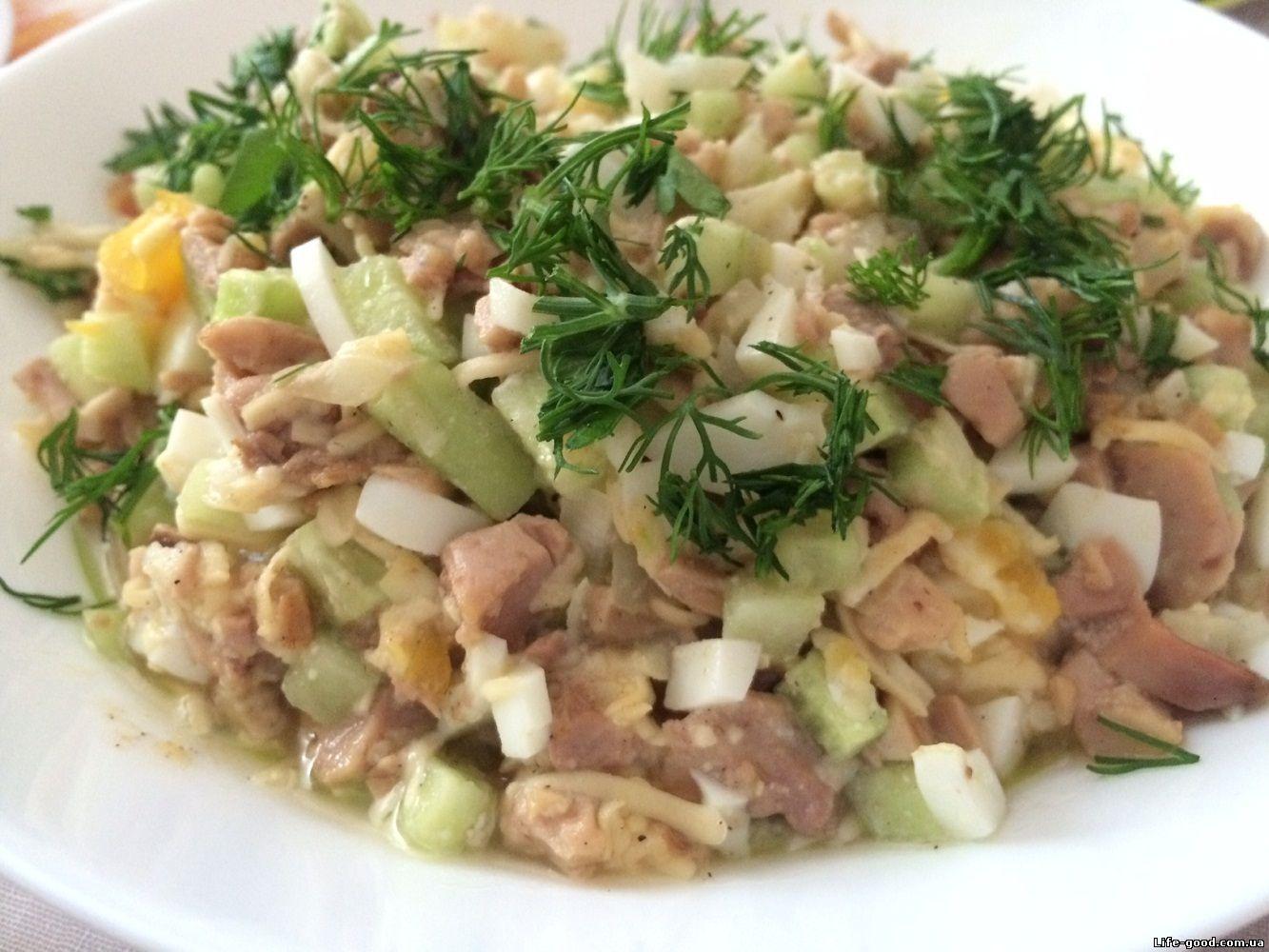 Салат из печени с домашнее