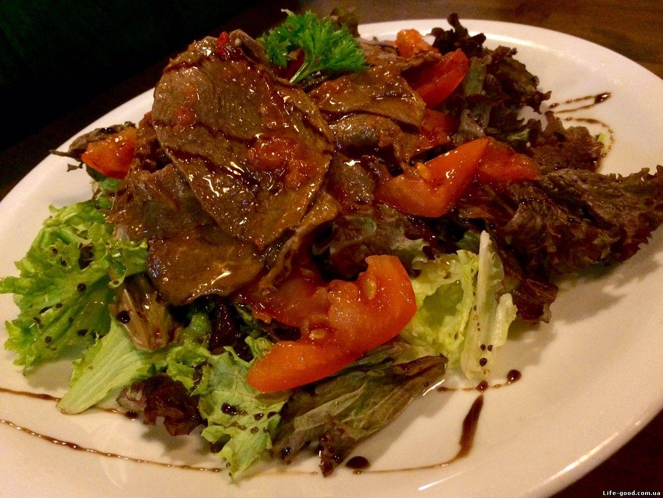 салат на гриле фото рецепт
