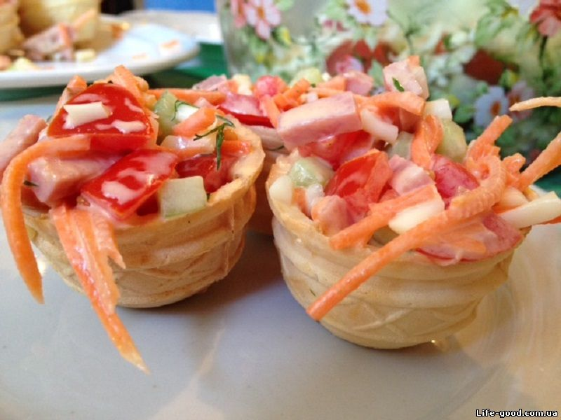 Бутерброды в тарталетках рецепты с фото