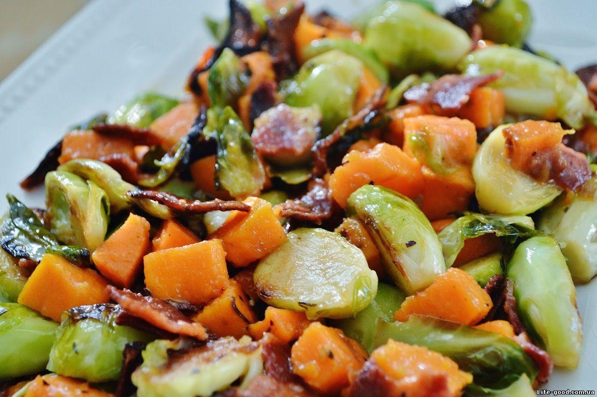 рецепт салат с брюссельской капустой