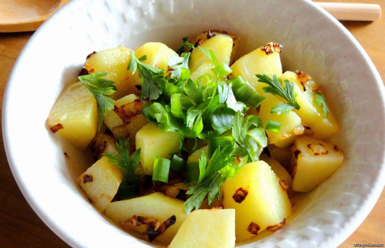 Рецепт картошки с семгой