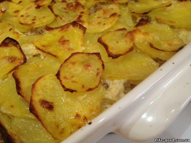 Картофельная лазанья с фаршем рецепт