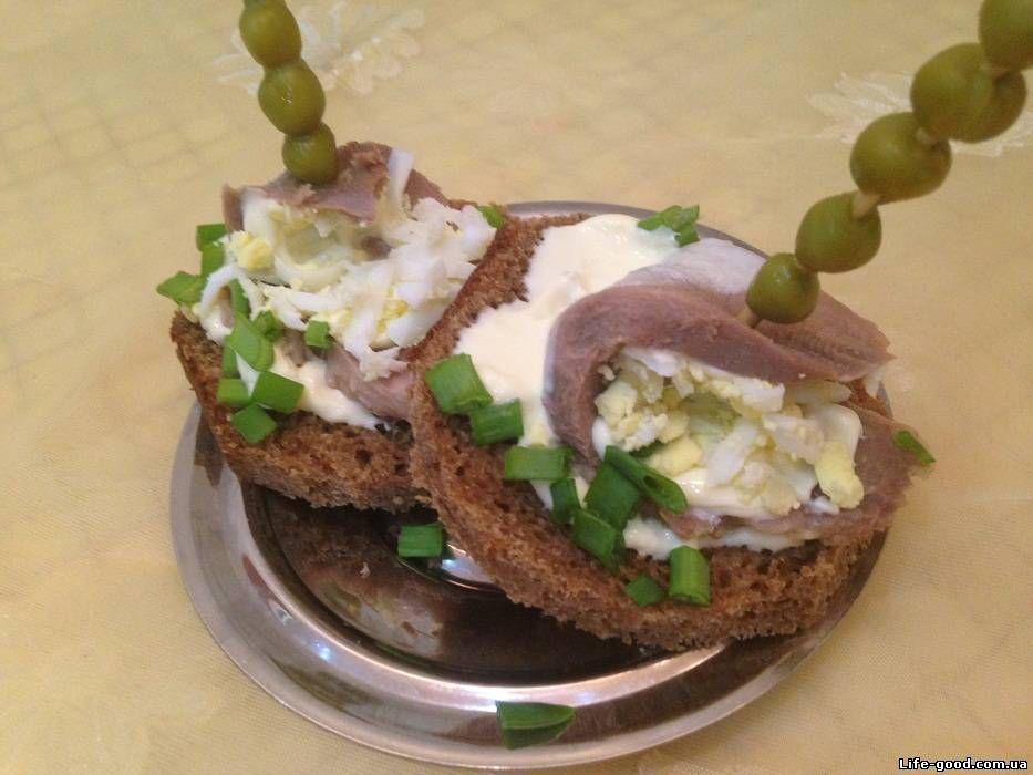 Бутерброды с языком рецепты с фото