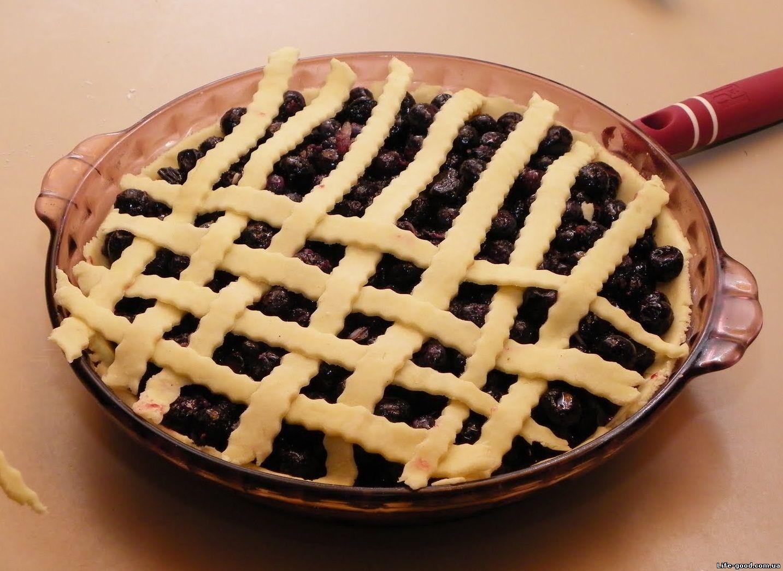 Рецепт открытого черничного пирога