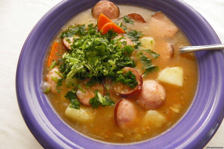 Суп гороховый с сосиской пошаговый рецепт